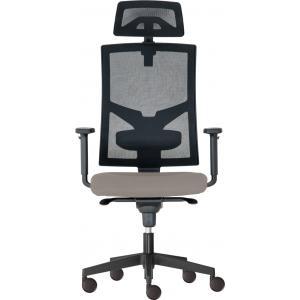 Kancelárska stolička GAME Šéf SYN sivá (Bombay 34) + PDH + podrúčky P44