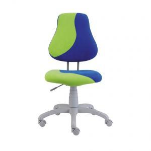 Detská rastúca stolička FUXO S-LINE modro/zelená (Suedine)