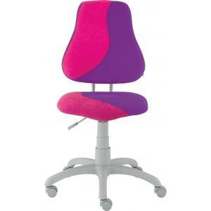 Detská rastúca stolička FUXO S-LINE ružovo/fialová (Suedine)