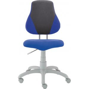 Detská rastúca stolička FUXO S-LINE modro/sivá  (Suedine)