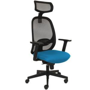 Kancelárska stolička MANDY SYN svetlo modrá (Bombay 57) + PDH + podrúčky P44
