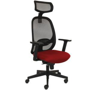 Kancelárska stolička MANDY SYN červená (Bombay 33) + PDH + podrúčky P44