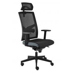 Kancelárska stolička GAME VIP SYN čierno/sivá (B8033) + PDH 3D + podrúčky P44