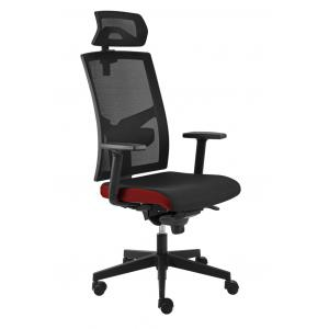 Kancelárska stolička GAME VIP SYN čierno/červená (B8033) + PDH 3D + podrúčky P44