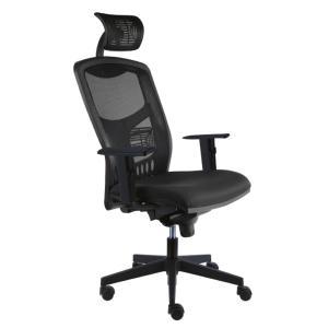Kancelárska stolička York Net, E-SY+ PDH+ podrúčky čierna