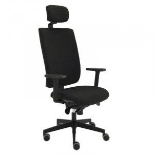 Kancelárska stolička Kent Boss, E-SY, čierna