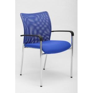Konferenčná stolička Vanity Plus, modrá