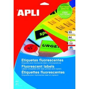 Etikety laser fluo.červ.  A4