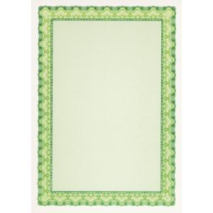 Certifikačný papier A4 zelený 115g, 25 ks