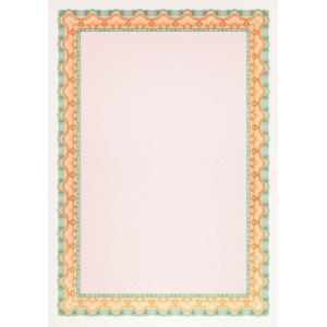 Certifikačný papier A4 oranžovo-zelená 115g, 25 ks