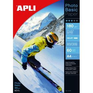 Fotopapier APLI A4 Photobasic lesklý180g 60 hárkov
