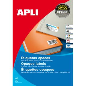 Etikety nepriehľadné 210x297mm APLI A4 20 hárkov