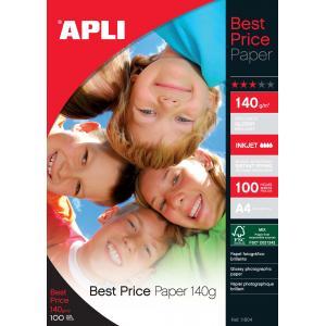 Fotopapier APLI A4 Best Price lesklý 140g 100 hárkov