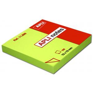 Bloček samolepiaci zelený 75x75mm 100 lístkov APLI notes