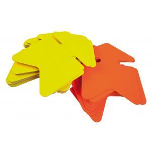 Popisovateľný farebný kartón šípka 12x16cm APLI mix žltá-oranžová
