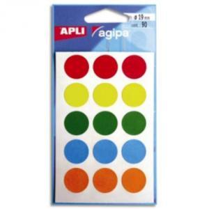 Etikety rôznofarebné pr. 19mm