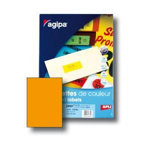 Etikety farebné 210x297mm Agipa A4 100 hárkov fluo oranžové