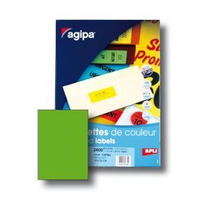 Etikety farebné 210x297mm Agipa A4 100 hárkov fluo zelené
