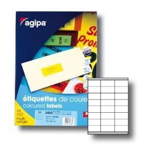 Etikety farebné 70x35mm APLI A4 100 hárkov fluo žlté