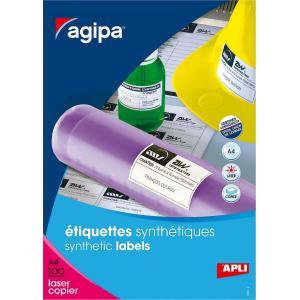 Etikety polyesterové 210x148,5mm Agipa A4 100 hárkov