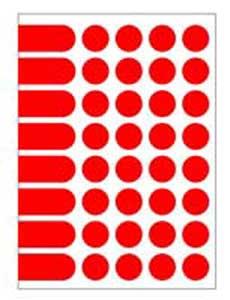 Etikety A5 24 mm červené