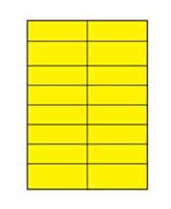 Etikety farebné 105x37mm Agipa A4 100 hárkov žlté