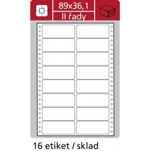 Etikety tabelačné 89x36,1mm APLI 2 radové