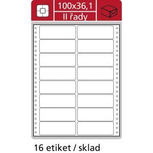 Etikety tabelačné 102x36,1mm APLI 2 radové