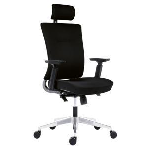 Kancelárska stolička Next+ PDH celočalúnená, čierna