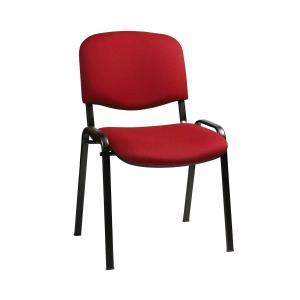 Rokovacia stolička Taurus TN červená C29 -  kostra čierna