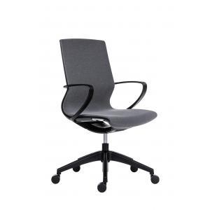 Kancelárska stolička Vision, tmavo šedá/čierna
