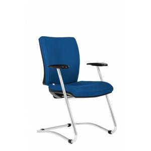 Konferenčná stolička Gala modrá D4