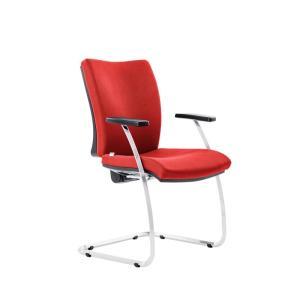 Konferenčná stolička Gala červená D3