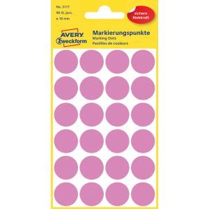 Etikety kruhové 18mm Avery ružové