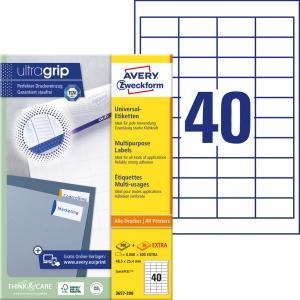 Etikety univerzálne 48,5 x 25,4 mm Avery A4, 100 listov