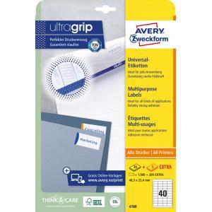 Etikety univerzálne 48,5x25,4mm Avery A4 25+5 hárkov