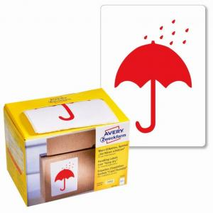 Etikety Avery s varovným symbolom ` Uchovajte v suchu` 74x100mm na kotúči