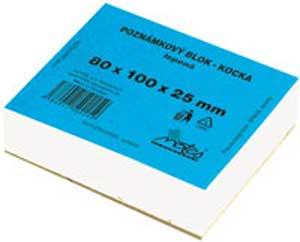 Blok kocka lepená 80x100x25 mm biela