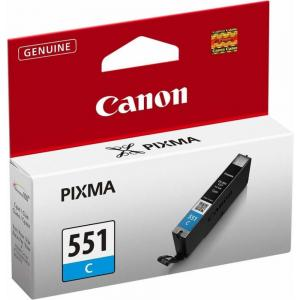 Atrament Canon CLI-551 C cyan  MG5450/6350, iP7250