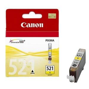 Atramentová náplň Canon CLI-521 pre MP 540/620/630/980/iP 3600/4600 yellow (460 str.)