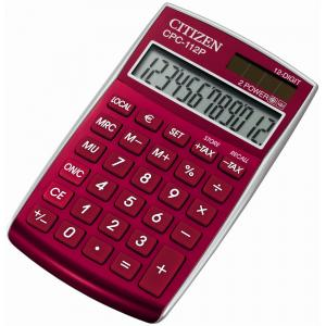 kalkulačka Citizen CPC-112 červená