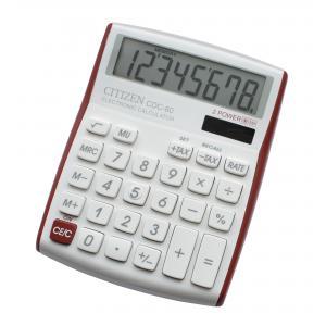 Kalkulačka Citizen CDC-80 V červená