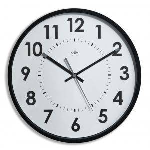 Nástenné hodiny s tichým chodom 30cm čierne