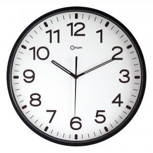 Nástenné hodiny s tichým chodom čierne