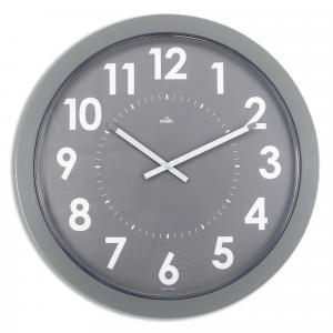 Nástenné hodiny Giant 60cm strieborné