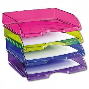 Odkladač CepPro Happy na šírku transparentný fialový