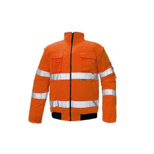 Bunda bezpečnostná CLOVELLY PILOT HV oranžová L