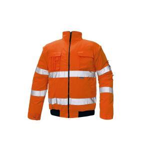 Bunda bezpečnostná CLOVELLY PILOT HV oranžová 4XL