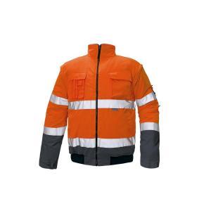 Bunda bezpečnostná CLOVELLY PILOT HV oranžová/navy S