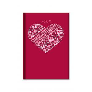 Diár Print denný Srdce 2021